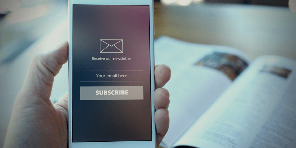 Encourage email subscriptions by offering readers content in exchange for their address.