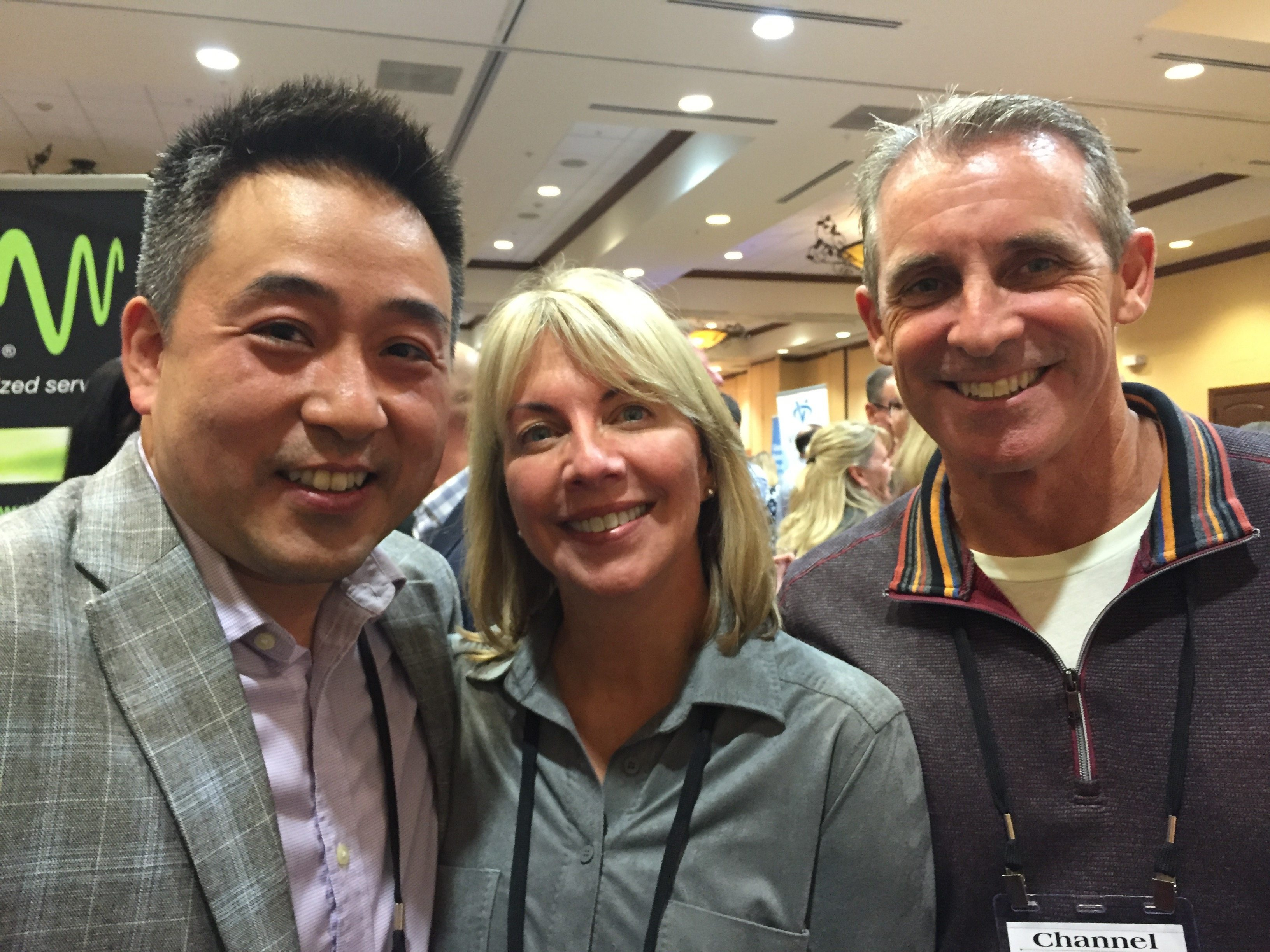 Dean Ara with Cheryl and Greg from Crystal Technologies.