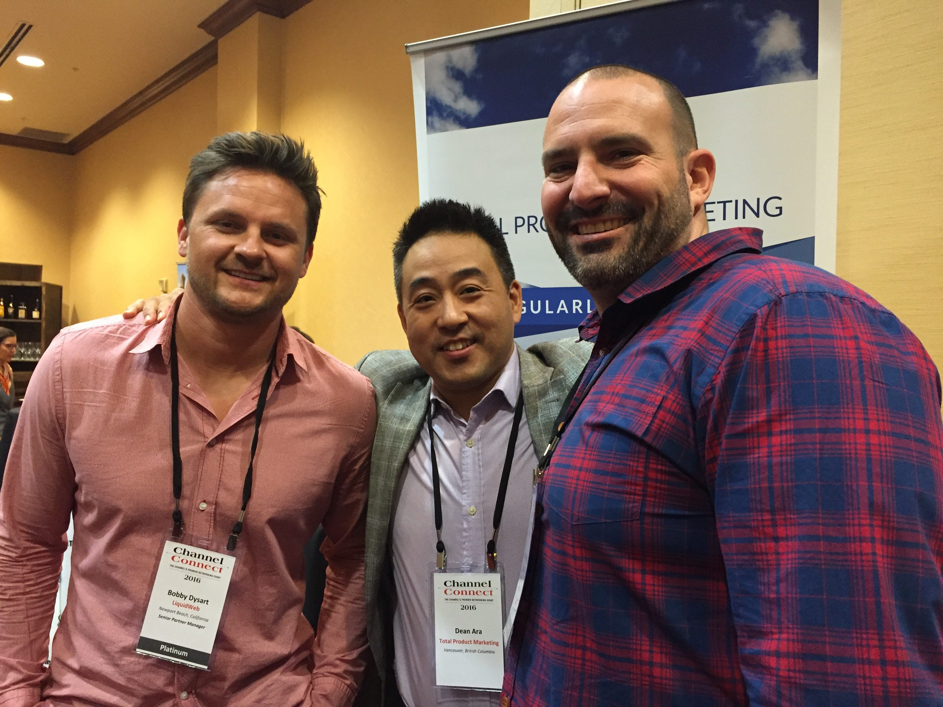 Dean Ara with Bobby and Dom from Liquid Web.